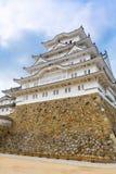 Главная башня замка Himeji в Японии Стоковые Изображения