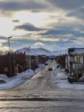 Главная деревня andenes в севере vesteralen стоковые изображения rf