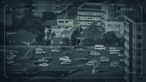Главная дорога CCTV проходя квартиры сток-видео