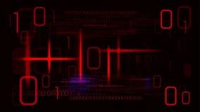 Главная кибер атака ударяя компьютеры Стоковое Изображение
