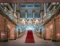 Главная лестница на интерьере театра Рио-де-Жанейро муниципальном - Рио-де-Жанейро, Бразилии стоковое изображение rf