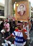ГЛАВНАЯ НОВОСТЬ ОТ ТАИЛАНДА:  13-ое января 2014 массивнейшая демонстрация сегодня была проведена в Бангкоке, Таиланде антипровител Стоковое фото RF