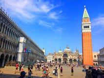 Главная площадь Венеции Известный квадрат ` s St Mark Италия стоковое фото