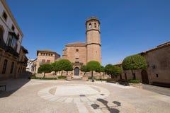 Главная площадь в старом городке Ла Encina Banos de стоковое фото