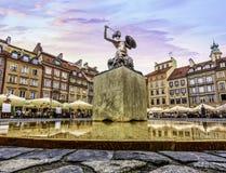 Главная площадь рыночной площади городка Варшавы старой стоковые изображения