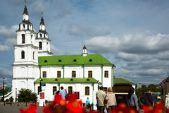 Главная православная церков церковь Минска Стоковые Изображения RF