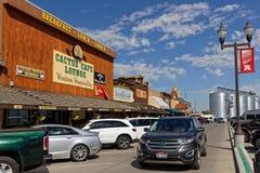 Главная улица в стене, городок Южной Дакоты стоковые изображения