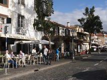 Главная улица в Фуншале Мадейре Стоковое фото RF