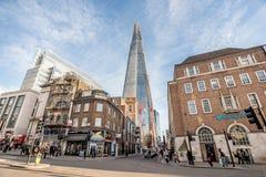 Главная улица города в Лондоне, Великобритании Стоковые Фото