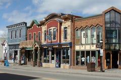 главная улица breckenridge colorado стоковые изображения rf