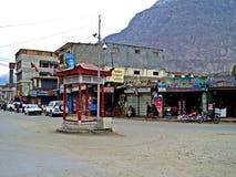 главная улица Gilgit, столицы района gilgit-Baltistan, Пакистана стоковое фото