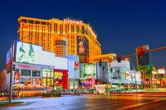 Главная улица Las Вегас-был прокладка в выравнивать время E стоковые изображения rf
