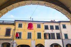 Главная улица Ponsacco, Тосканы Стоковые Изображения RF
