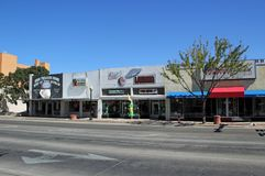 Главная улица Roswell Неш-Мексико Стоковое Изображение RF