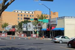 Главная улица, Roswell, Неш-Мексико стоковое фото