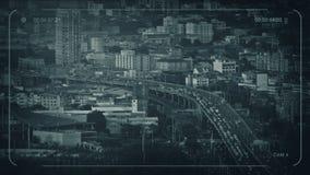 Главное шоссе CCTV через город видеоматериал