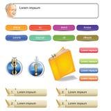 Главные шаблоны человека и кнопки иллюстрация вектора
