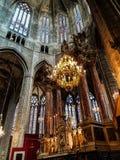 Главный алтар собора Нарбонны стоковые фото