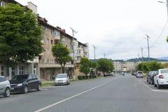 Главный бульвар от города Vulcan стоковое изображение