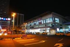 Главный вокзал Kaohsiung на ноче Стоковые Изображения RF