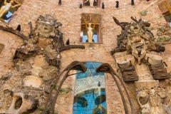 Главный двор музея Dali в Испании Стоковая Фотография
