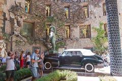 Главный двор музея Dali в Испании Стоковые Изображения