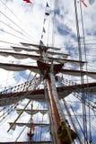 главный корабль пирата рангоута Стоковые Изображения