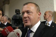 главный министра lokke lars rasmussen Стоковая Фотография RF
