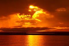 главный начальник восхода солнца озера Стоковое Изображение RF