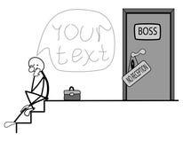 Главный начальник не суменный для того чтобы принять. Стоковые Фотографии RF