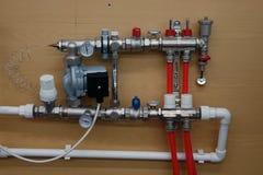 Главный офис системы отопления дома стоковое фото rf
