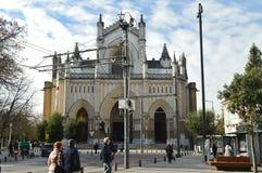 Главный фасад собора Vitoria Архитектура, искусство, история, перемещение Стоковые Фотографии RF