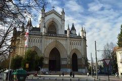 Главный фасад собора Vitoria Архитектура, искусство, история, перемещение Стоковое Изображение