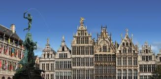 Главным образом городская площадь Antwerp, Бельгии. Стоковая Фотография RF