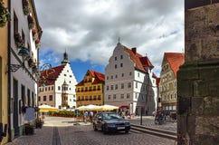 Главным образом квадрат Nordlingen - Германия стоковое фото rf