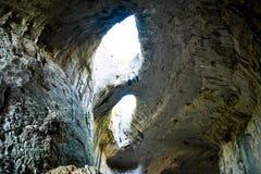 Глаза бога, пещеры Prohodna, Болгарии Стоковое Изображение RF