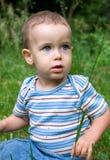 глаза голубого мальчика Стоковые Фото