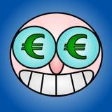 глаза евро иллюстрация вектора