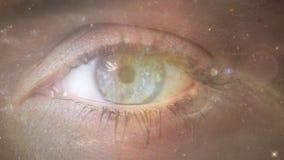Глаза и галактика видеоматериал