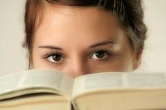 глаза книги Стоковое Фото