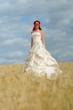глаза красивейшей невесты закрытые Стоковое Фото