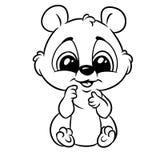 Глаза маленького младенца животные большие крася мультфильм страницы бесплатная иллюстрация