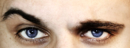 глаза сомнения Стоковое Фото