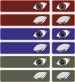Глаза с значками иллюстрация штока