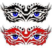 глаза татуируют соплеменное Стоковая Фотография RF