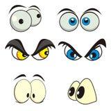 глаза шаржа иллюстрация вектора