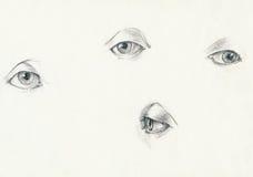 глаза 4 иллюстрация вектора