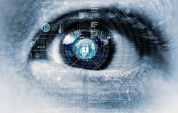 Глаз интернета на безопасности стоковые изображения