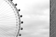 Глаз Лондона, колесо тысячелетия Стоковое Изображение RF