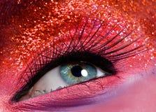 Глаз макроса с яркими блесками Стоковые Изображения